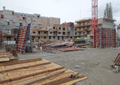 Apartment Building at the stage of construction, Krakow